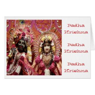 Tarjeta Radha KRISHNA para el amor, prosperidad de la paz