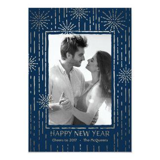 Tarjeta radiante de la foto del Año Nuevo