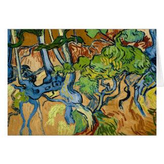 Tarjeta Raíces del árbol de Vincent van Gogh (julio de