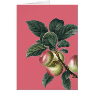 Tarjeta Rama de manzanas rojas