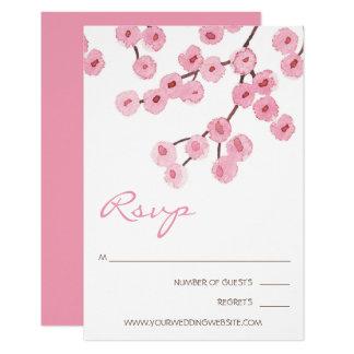 Tarjeta Ramas de la flor de cerezo de la acuarela