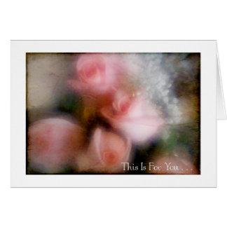 Tarjeta Ramo color de rosa rosado para usted #1