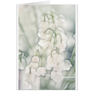 Tarjeta Ramo de la flor del lirio de los valles