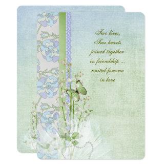 Tarjeta ramo del boda del lirio de los valles