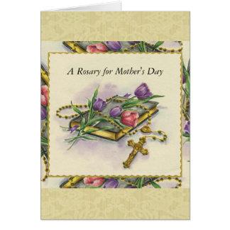 Tarjeta Ramo espiritual del rosario del día de madre
