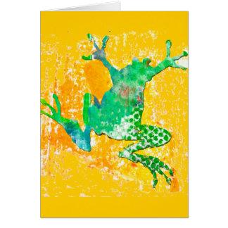 Tarjeta Rana verde linda
