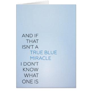 Tarjeta rancia del milagro