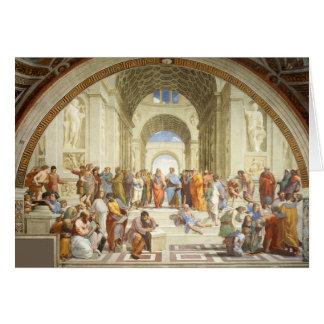 Tarjeta Raphael - La escuela de Atenas 1511