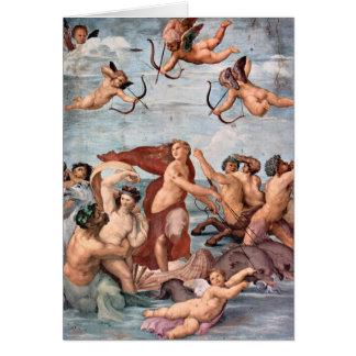 Tarjeta Raphael - Triumph de Galatea 1512