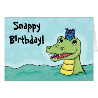Tarjeta rápida del cocodrilo del cumpleaños