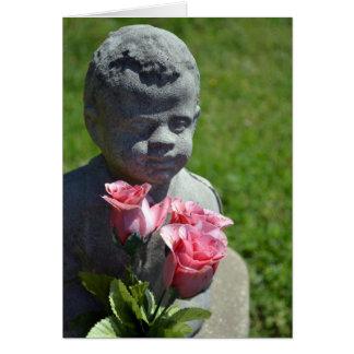 Tarjeta Rasgones de una condolencia del ángel