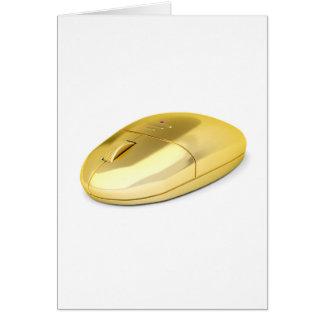 Tarjeta Ratón inalámbrico de oro