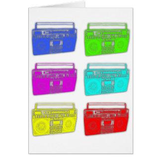 Tarjeta Raver del multicolor de BOOMBOX
