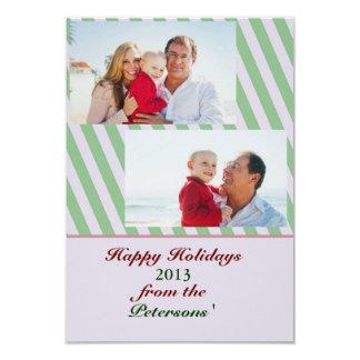 Tarjeta rayada de la foto de familia del día de invitación 8,9 x 12,7 cm