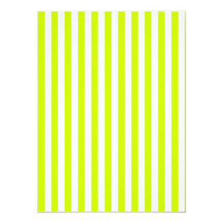 Tarjeta Rayas finas - blancas y amarillo fluorescente