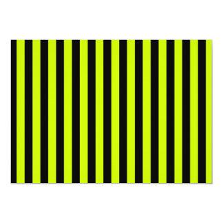 Tarjeta Rayas finas - negras y amarillo fluorescente