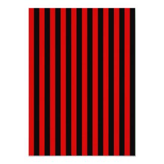Tarjeta Rayas finas - negro y Rosso Corsa