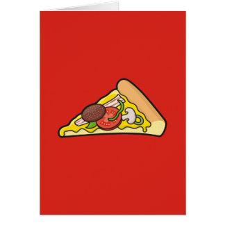 Tarjeta Rebanada de la pizza