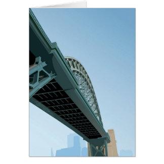 Tarjeta Recepción a Newcastle sobre Tyne
