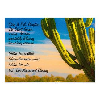 Tarjeta Recepción colorida del menú del cactus del