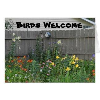 Tarjeta Recepción de los pájaros