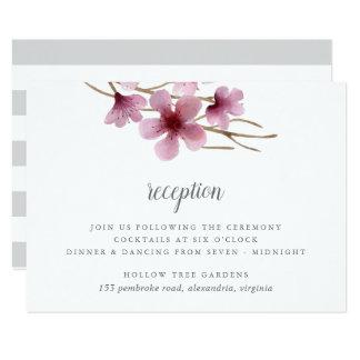 Tarjeta Recepción nupcial de las flores de cerezo de la