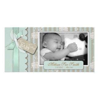 Tarjeta recién nacida de la foto tarjetas fotograficas