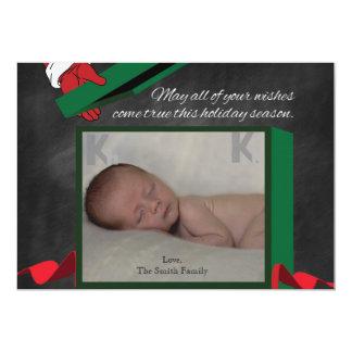 Tarjeta recién nacida del día de fiesta de la foto invitación 12,7 x 17,8 cm