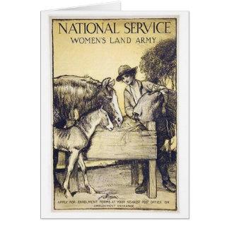 Tarjeta Recluta del ejército de la tierra de las mujeres