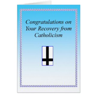 Tarjeta Recuperación católica Congrats