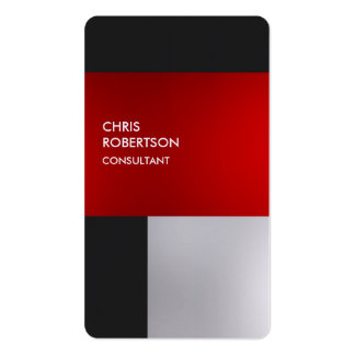 Tarjeta redondeada gris rojo colorido de lino del tarjetas de visita