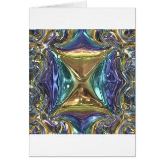 Tarjeta Reflejo azul del oro