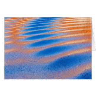 Tarjeta Reflexión del acantilado en el lago Powell el  