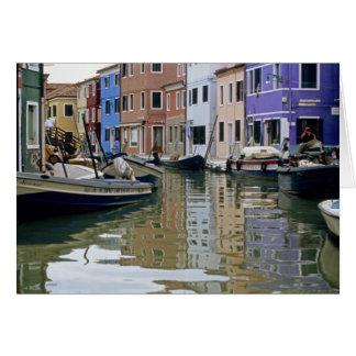 Tarjeta Reflexiones de Italia Burano