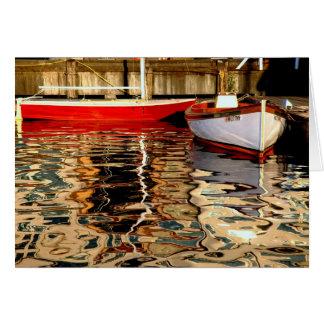 Tarjeta Reflexiones del barco de vela
