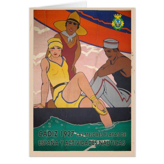 Tarjeta Regalo Cartel Cadiz Vintage Turismo