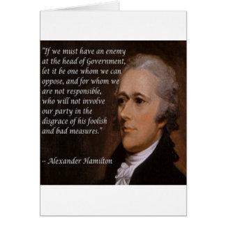 """Tarjeta Regalo del """"líder enemigo"""" de Alexander Hamilton"""