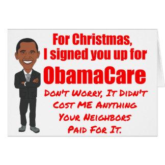 Tarjeta Regalo del navidad de ObamaCare