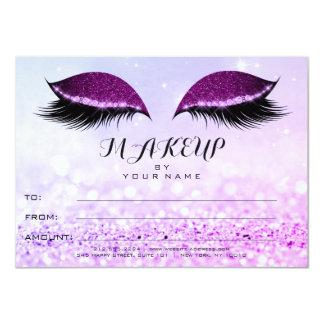 Tarjeta Regalo rosado del certificado del maquillaje del