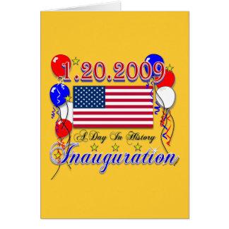 Tarjeta Regalos de la inauguración 2009 y ropa de la