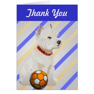 Tarjeta Regalos del arte del perro y de la bola de Westie