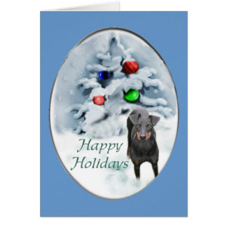 Tarjeta Regalos del navidad de Manchester Terrier