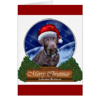 Tarjeta Regalos del navidad del labrador retriever del