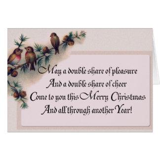Tarjeta ¡Regalos del navidad del petirrojo!