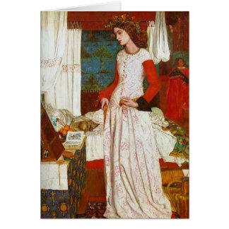 Tarjeta Reina Guenevere, William Morris de Iseult el   de