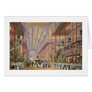 Tarjeta Reina Victoria que abre la exposición 1862 después