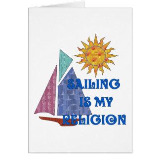 Tarjeta Religión de la navegación