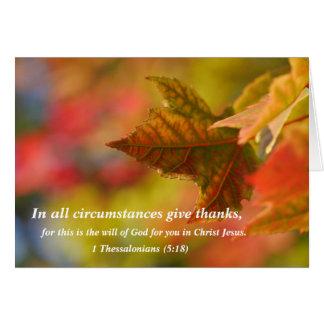Tarjeta religiosa de la acción de gracias