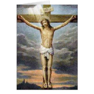 Tarjeta religiosa de la crucifixión de Pascua