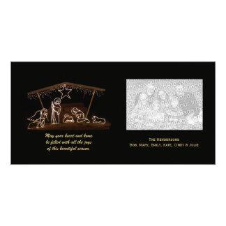 Tarjeta religiosa de la foto del navidad de la nat tarjetas fotográficas personalizadas